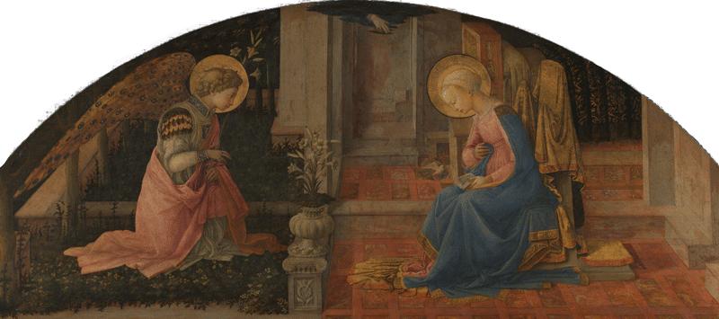 Anunciação - Anjo mensageiro entrega boas notícias a Maria