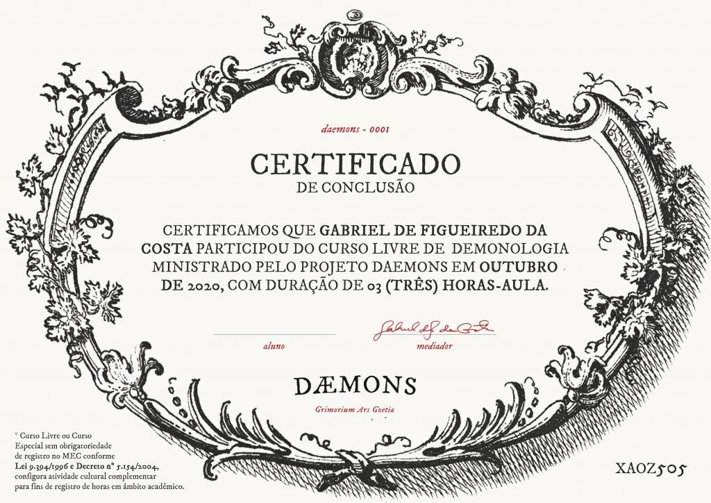Curso de demonologia com certificado