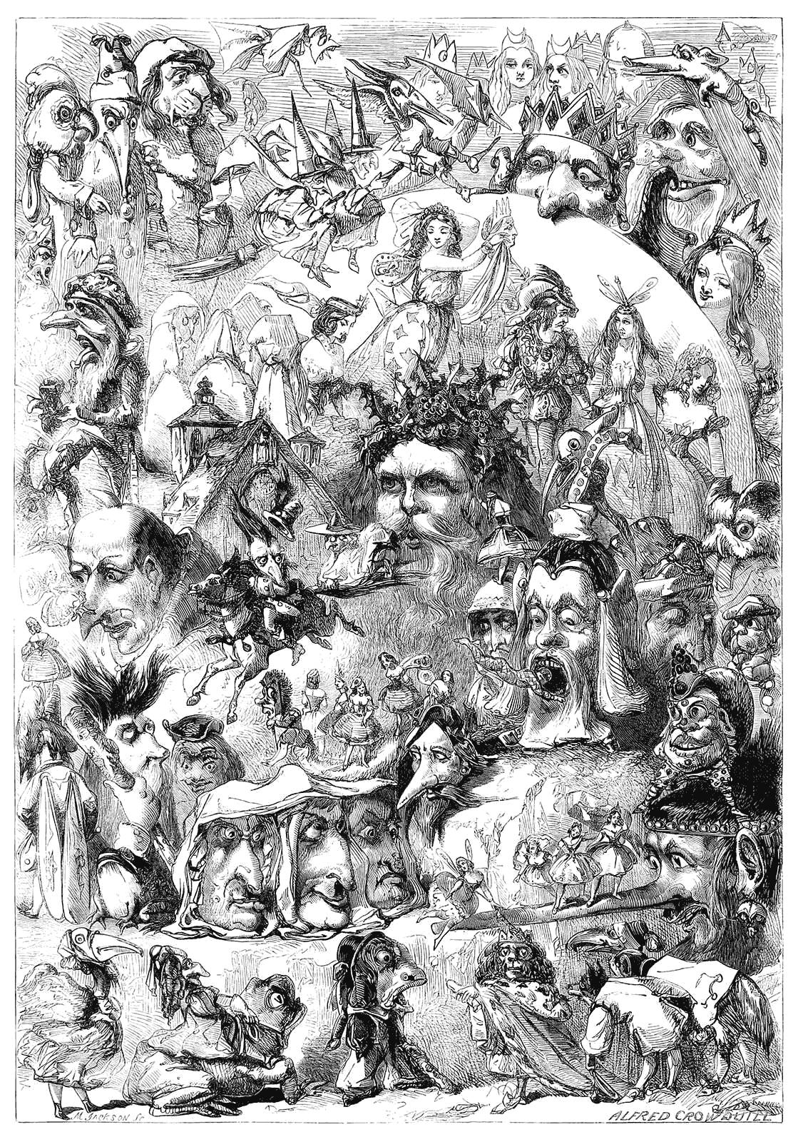 rostos de entidades e demônios