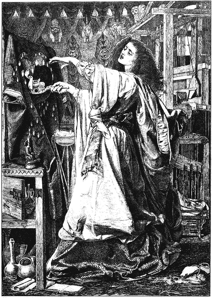 Bruxa fazendo ritual