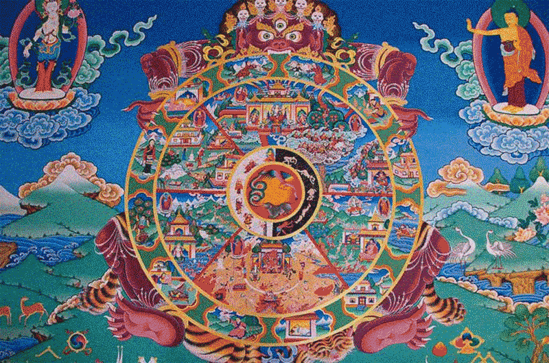 Demônio Mara segurando a Samsara