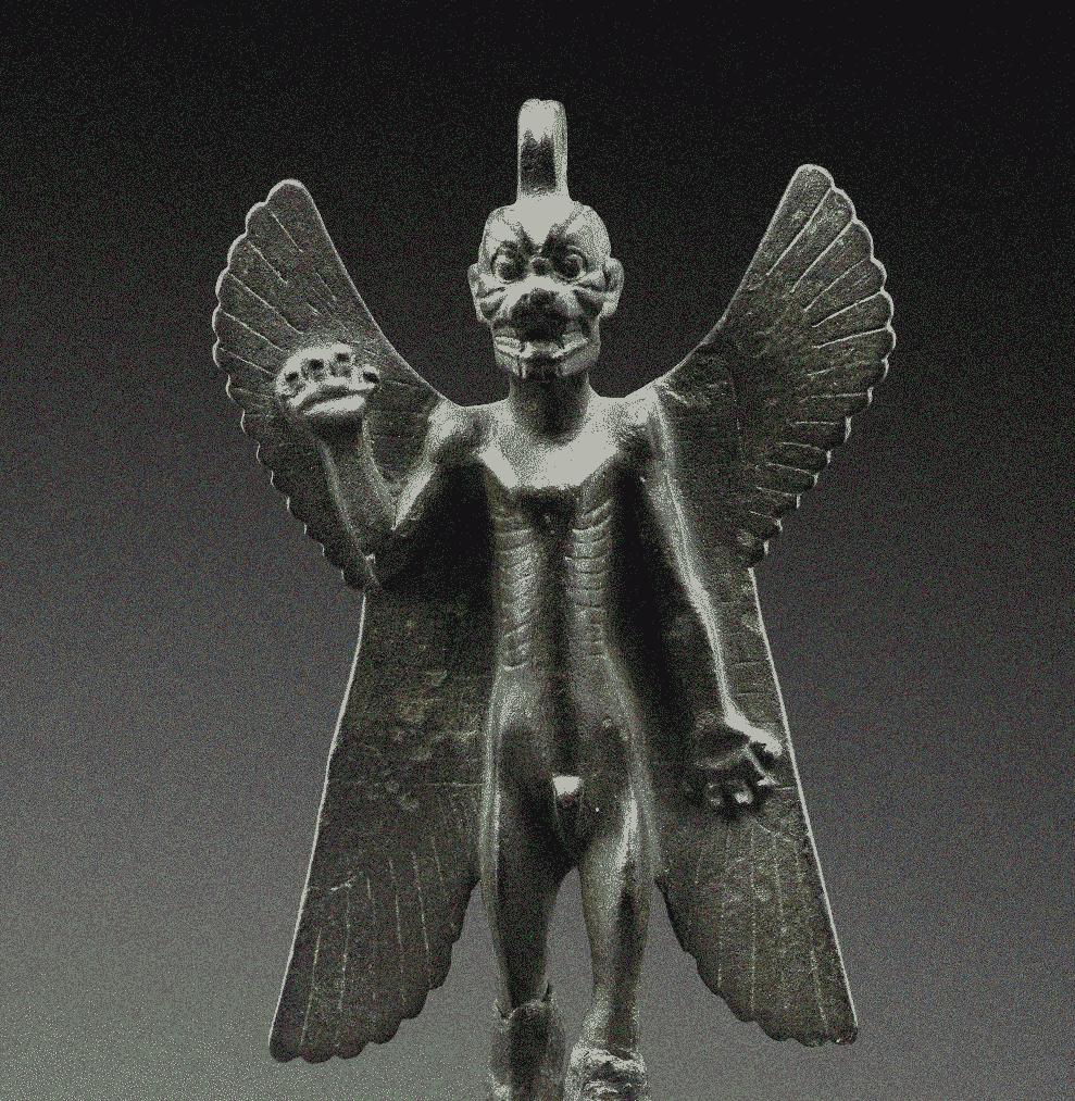 Estátua em Bronze do demônio Assírio Pazuzu, Louvre