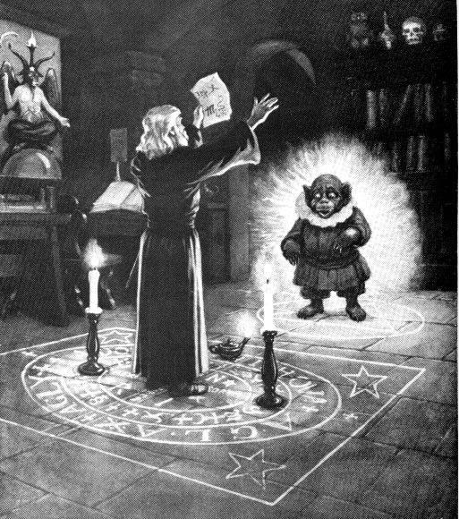 magista evocando um daemon